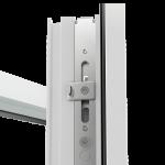 Возможность установить ступенчатое проветривание позволяет регулировать режим проветривания, фиксируя щель от 12 до 20 мм.