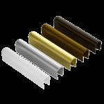 Выбор различных цветов декоративных накладок на петли позволяет использовать фурнитуру с различными вариантами ламинации ПВХ-профиля окна.